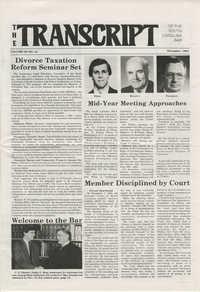 The Transcript of the South Carolina Bar, Vol. 28 No. 12, December 1984