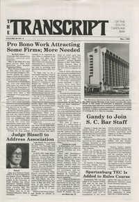 The Transcript of the South Carolina Bar, Vol. 29 No. 6, May 1985
