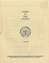 Crisis in the Courts, Pamphlet, NAACP, August 1989