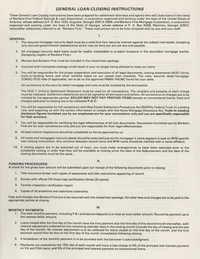 General Loan Closing Instructions