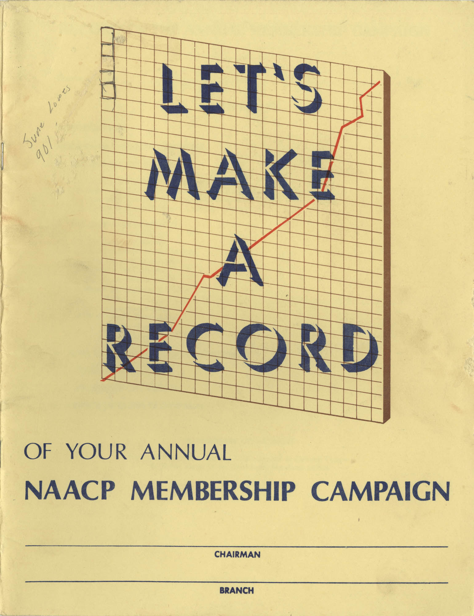 Let's Make a Record of Your NAACP Campaign, Pamphlet