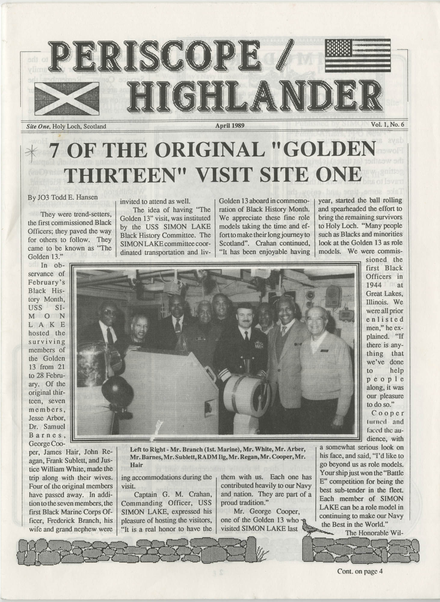 Periscope/Highlander, Vol. 1 No. 6, April 1989