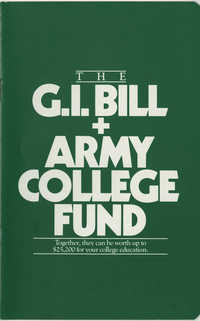 Booklet, The GI Bill + Army College Fund
