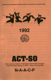 Brochure, ACT-SO Program, NAACP, 1992