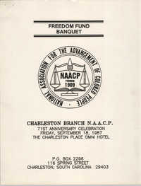 Freedom Fund Banquet, Charleston Branch of the NAACP