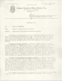 National Council of Negro Women, Inc. Memorandum and Dossier