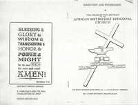 Directory and Programme of the Charleston District of the African Methodist Episcopal Church