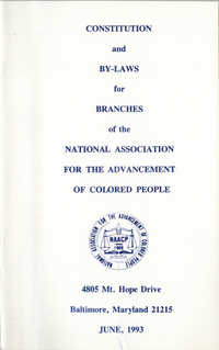 Constitution and By-Laws for Branches of the NAACP, June 1993