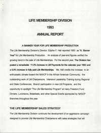 Life Membership Division, 1993 Annual Report