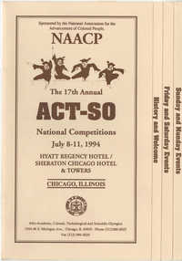NAACP 17th Annual ACT-SO, July 8-11, 1994