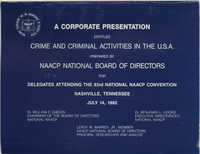 Crime and Criminal Activities in the U.S.A., NAACP National Board of Directors