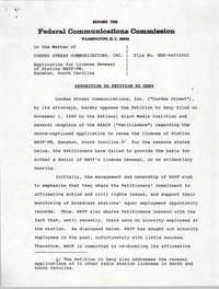 Federal Communications Commission In the Matter of Application for License Renewals of Radio Stations