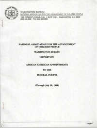 NAACP Report on African American Appointments to the Federal Courts