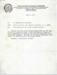 South Carolina Branch of the NAACP Memorandum, July 10, 1991
