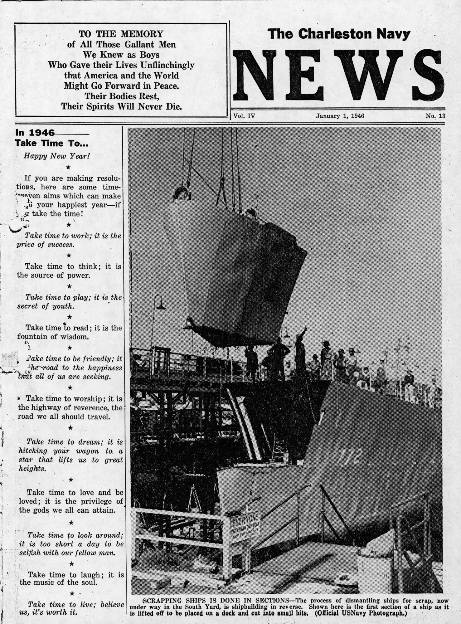Patriots Point Shipyard Newsletters, Book 4