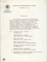United States Department of Justice Notice, March 26, 1976