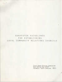 Suggested Guidelines for Establishing Local Community Relations Councils