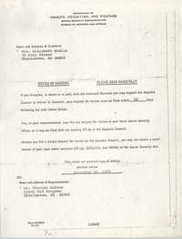Supplemental Security Income Claim Information, 1975