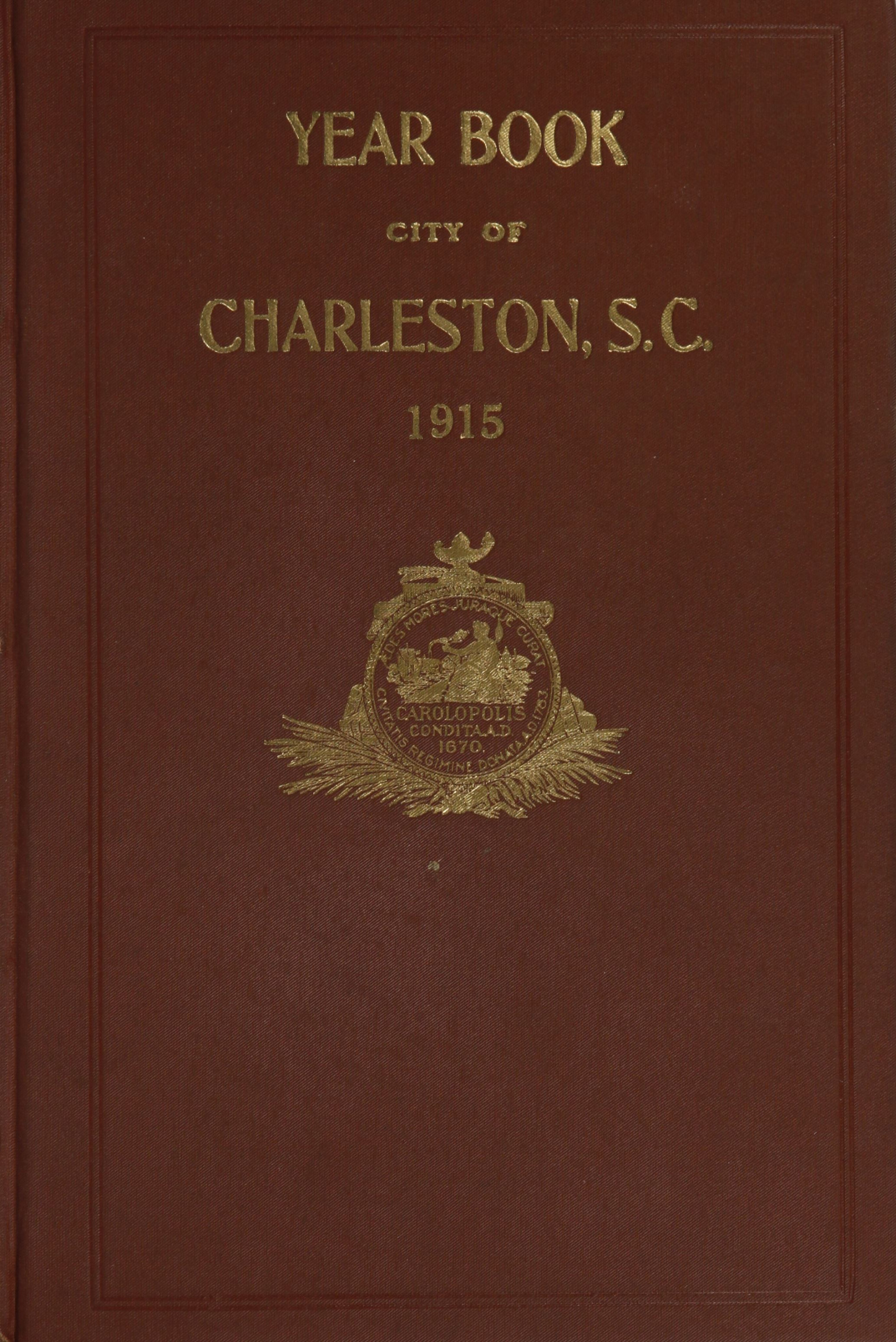 Charleston Yearbook, 1915, cover
