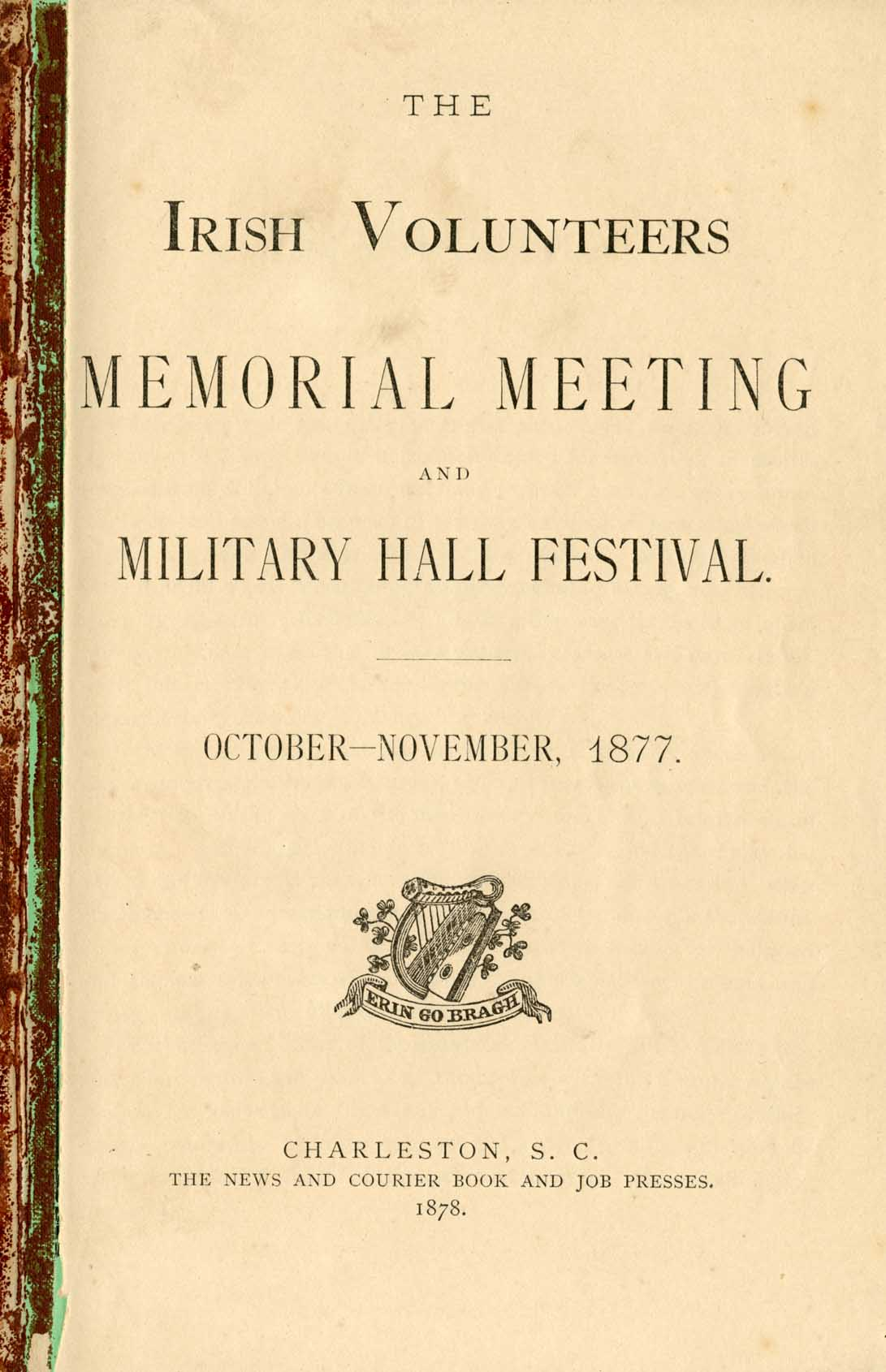 Irish Volunteers Memorial Meeting