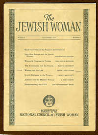 The Jewish Woman Quarterly, October 1924 vol. 4 no. 3