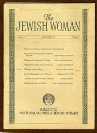The Jewish Woman Quarterly, October 1924 vol. 4 no. 3
