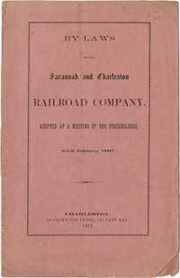 By-laws of the Savannah and Charleston Railroad Company