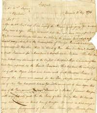 Frederick Garrissen Letter to William Stephen, 1793