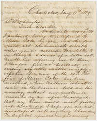 F.H. Trenholm to John Drayton