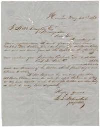 S.S. Stohenthal to Thomas Drayton, May 22, 1863