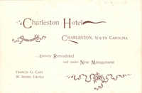 Charleston Hotel : Entirely Remodeled and Under New Management