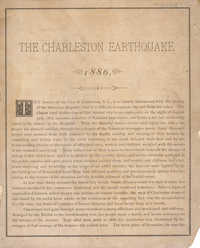The Charleston Earthquake, 1886