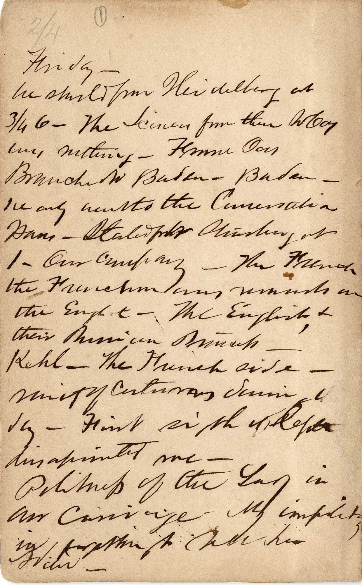 David Henry Mordecai Travel Diary (1850)