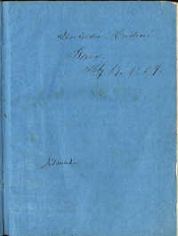 Hortensia Mordecai Travel Diary (1859)