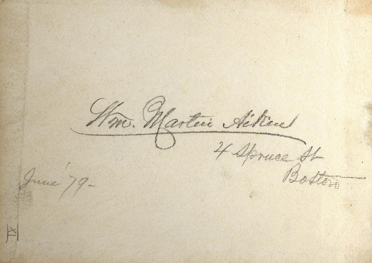 William Martin Aiken Sketchbook, 1879-1882