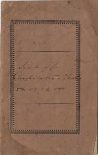 132. List of slaves and the carpenter's tools assigned to them -- 1853-1858