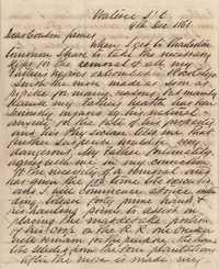 171. Edward Barnwell Heyward to James B. Heyward -- December 9, 1861