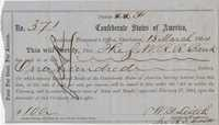 209. 3 Confederate Checks --1864