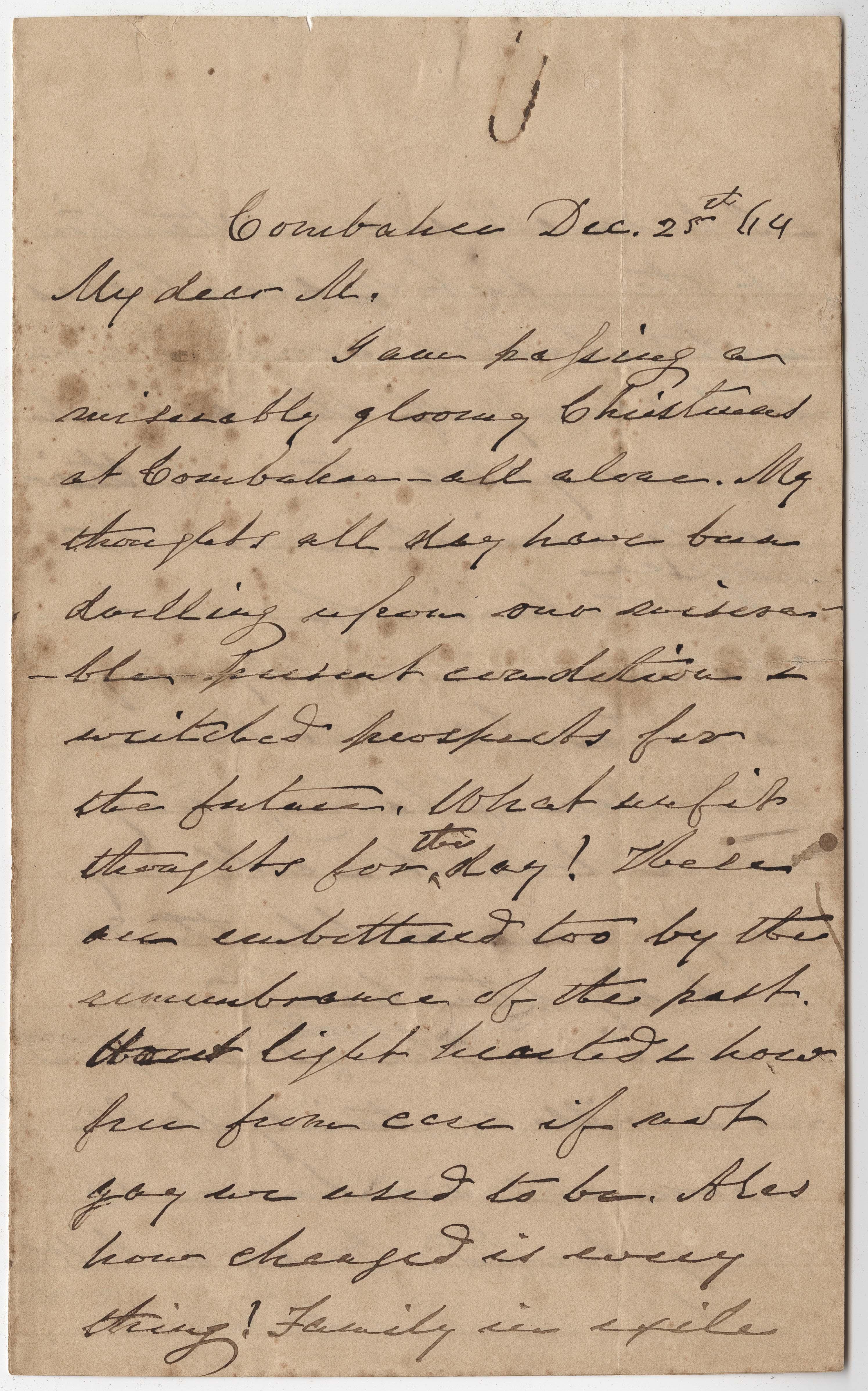 226. James B. Heyward to Maria Heyward -- December 25, 1864