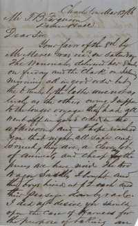 276. William McBurney to Thomas B. Ferguson -- March 12, 1866