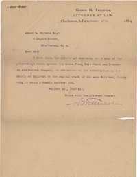 337. Copy of legal proceedings from G.M. Trenholm to James B. Heyward -- September 17, 1884