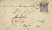 Envelope from William Lloyd Garrison Addressed to William Craft, 1860