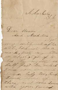 122. Maynard Marshall to Magdalen Elizabeth Wilkinson Marshall (nee Keith) -- May 4, 1890