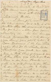 406. Madame Baptiste to Bp Patrick Lynch -- April 14, 1866