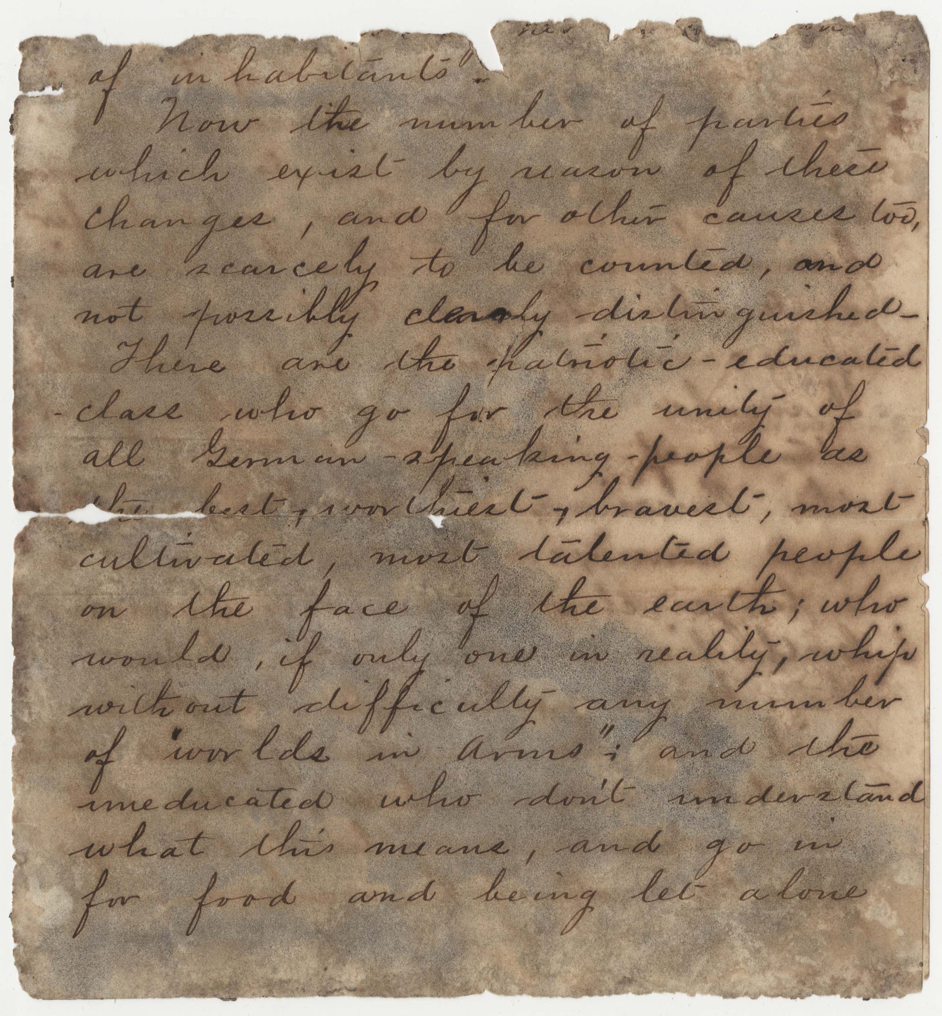 525.  Joseph Walker Barnwell to Unknown -- ca. 1870
