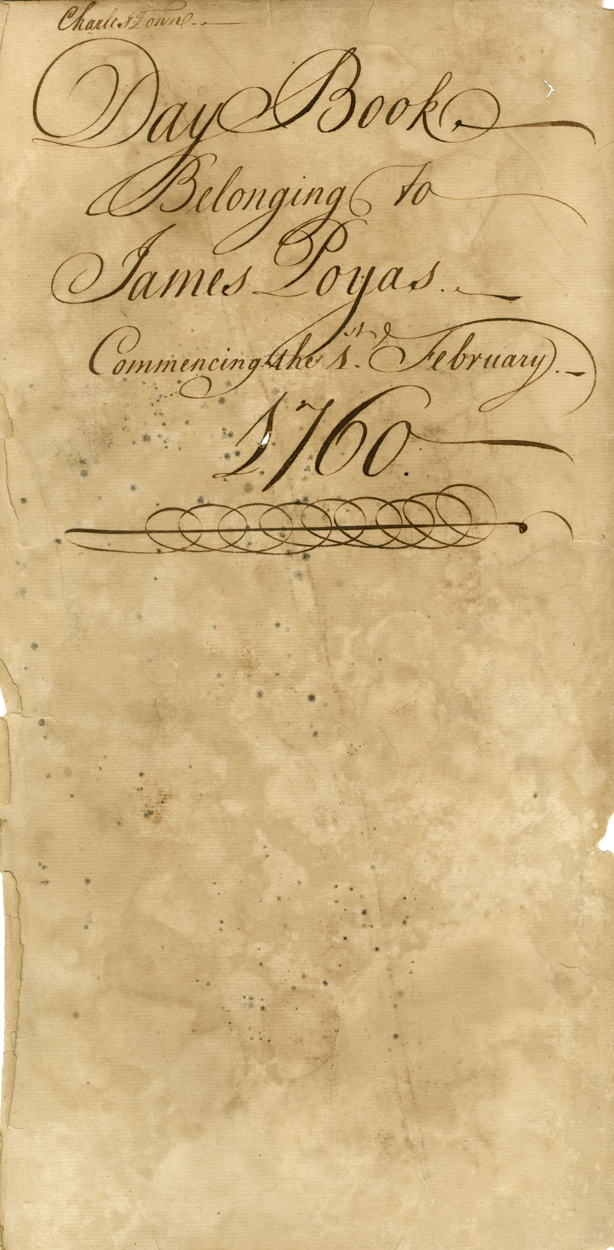 The James Poyas Daybook