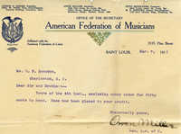 American Federation of Musicians Local 502 records, 1911-1914.