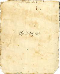 Eliza Pinckney Receipt Book, 1756