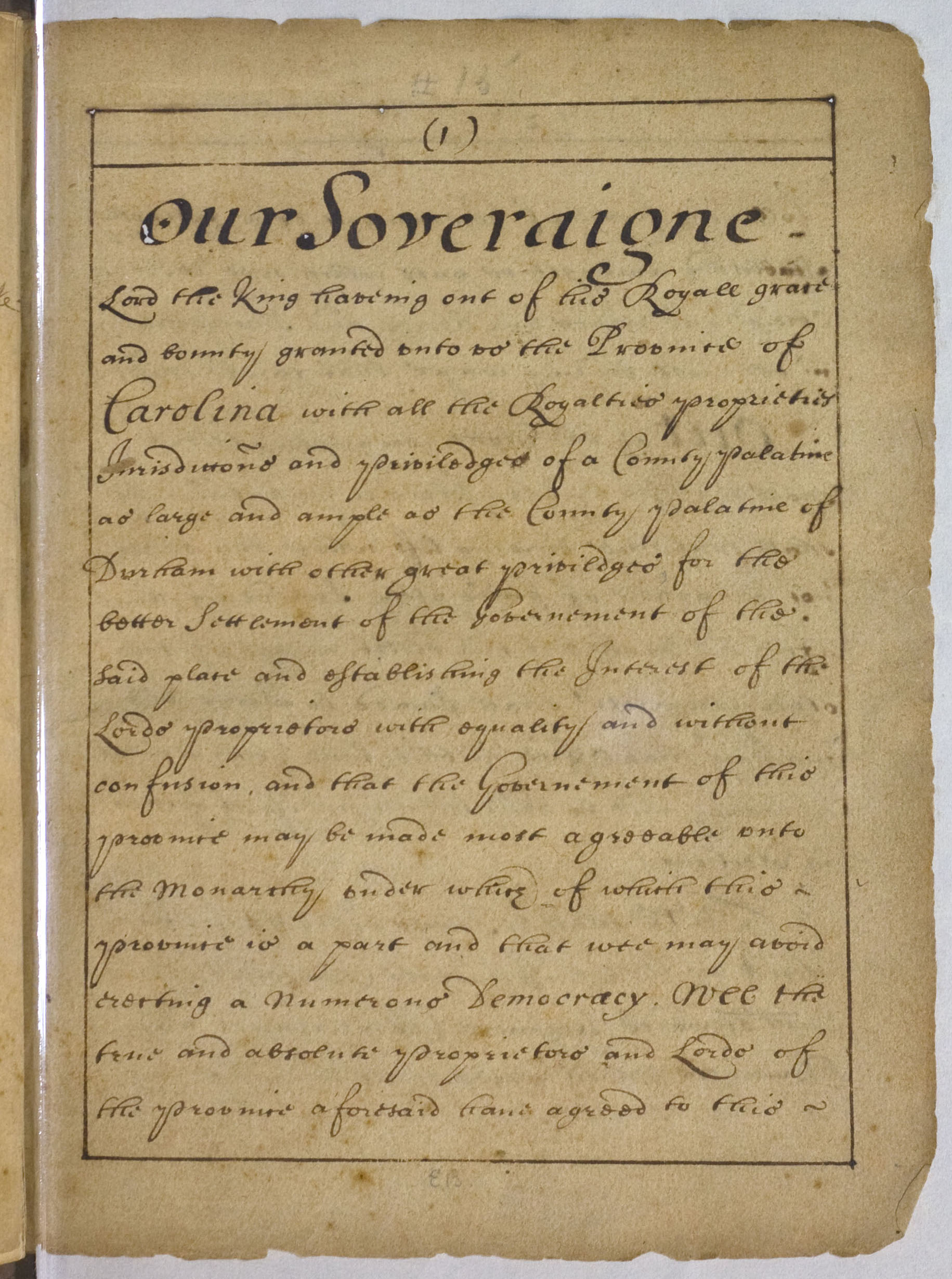 Fundamental Constitutions of Carolina