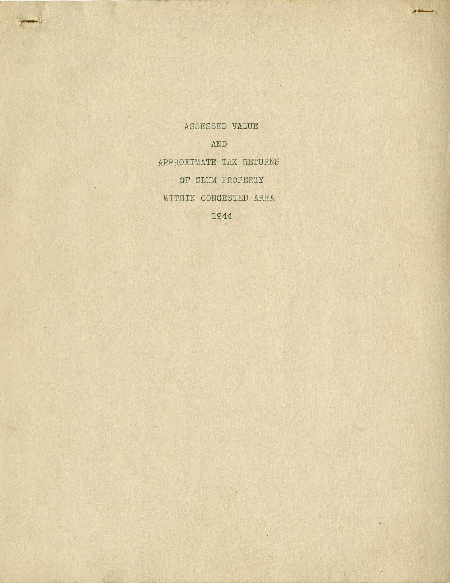 Folder 10: Tax Assessment